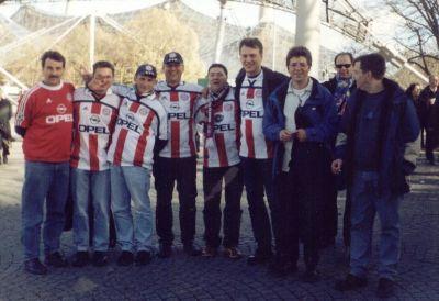 Gruppenfoto der Maanzer Bullen in München