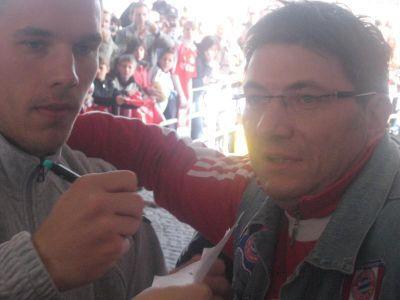 Enrico Fölsch und Lukas Podolski