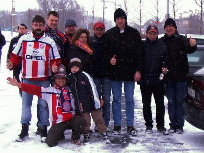 Gruppenfoto vor dem Spiel